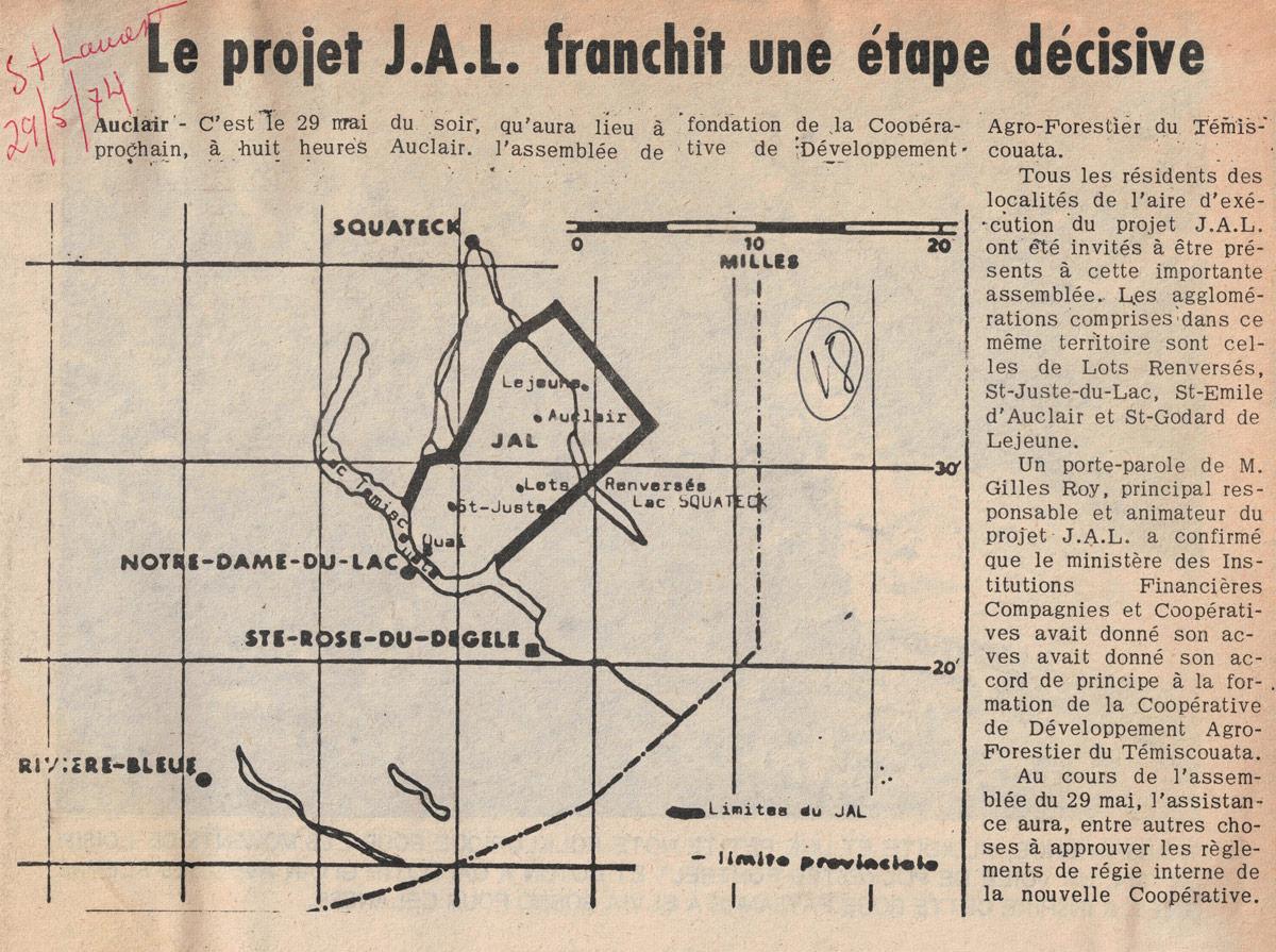 Projet JAL: franchit une étape décisive